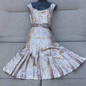 Carolina Herrera brocade dress(10)